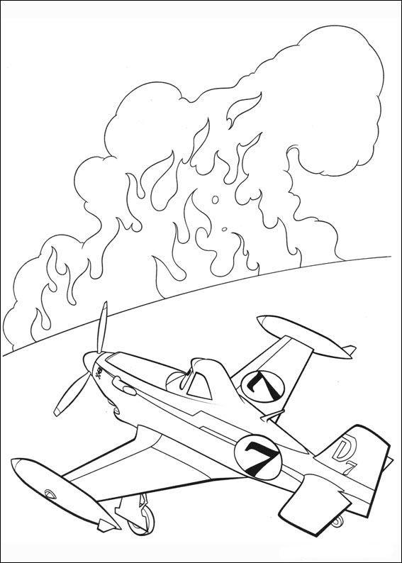 Desenhos para pintar Aviões 37