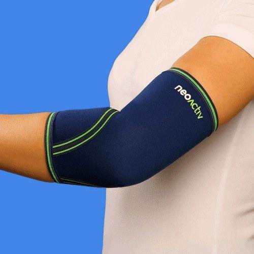 """CD05A NeoActiv Codera indicada para el cuidado y prevención de lesiones musculares, bursitis, alivio del dolor del codo reumático, inflamación de la fascia muscular, epicondilitis (""""codo de tenista""""), epitrocleitis (""""codo de golfista""""), en general, dolores de codo. Patologías y lesiones que requieran calor terapéutico antiálgico y compresión. #deporte #salud #ortopedia"""