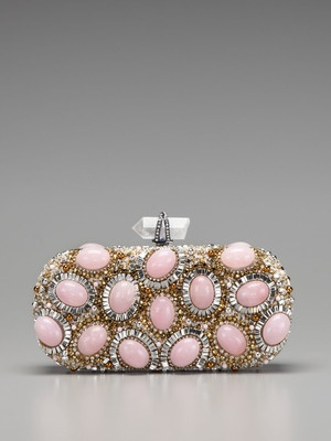 Marchesa Handbags Lily Embroidered Clutch
