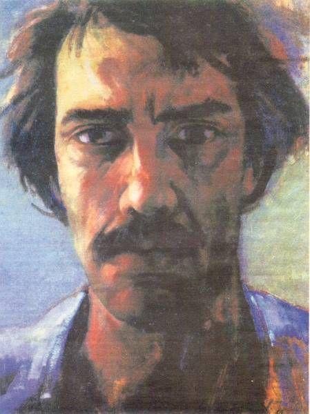 Luis Caballero Holguín self-portrait
