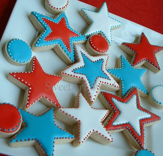Decorated Christmas Star Cookies
