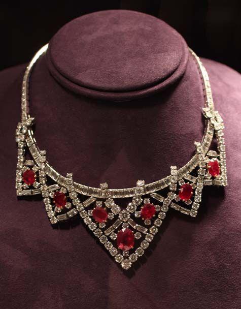 Cartier Ruby and Diamond Necklace - Elizabeth Taylor