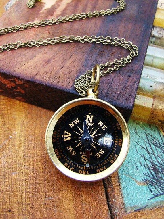 Wanderlust Brass Compass Necklace by Manic Muse