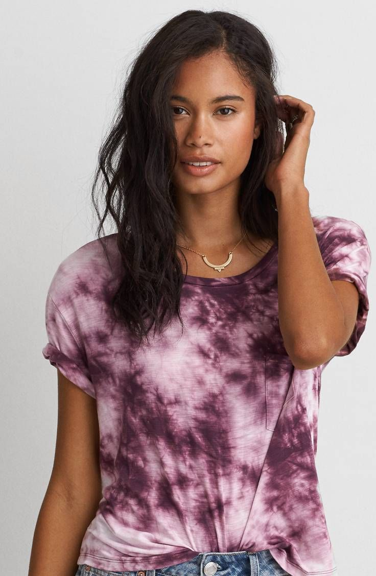 AEO Soft and Sexy Sky High T-Shirt  by  American Eagle Outfitters   Our signature Soft and Sexy jersey is designed to drape flawlessly in an array of essential silhouettes.  Shop the AEO Soft and Sexy Sky High T-Shirt  and check out more at AE.com.