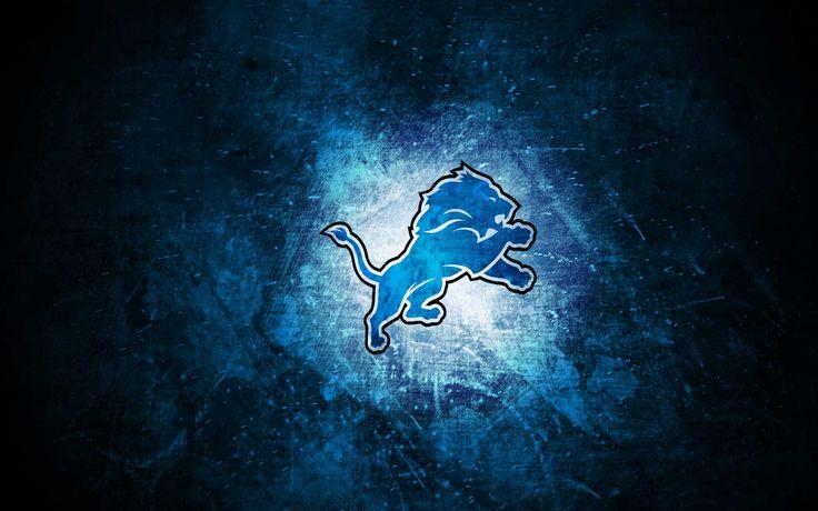 Sports : Detroit Lions NFL Blue Lion Jump Dark Backgrounds ...