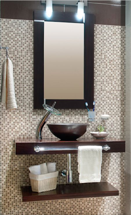 Ambientación para un #baño pequeño #Corona inspira