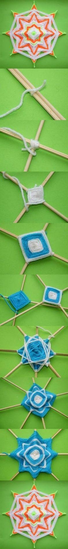 mandalas de laine