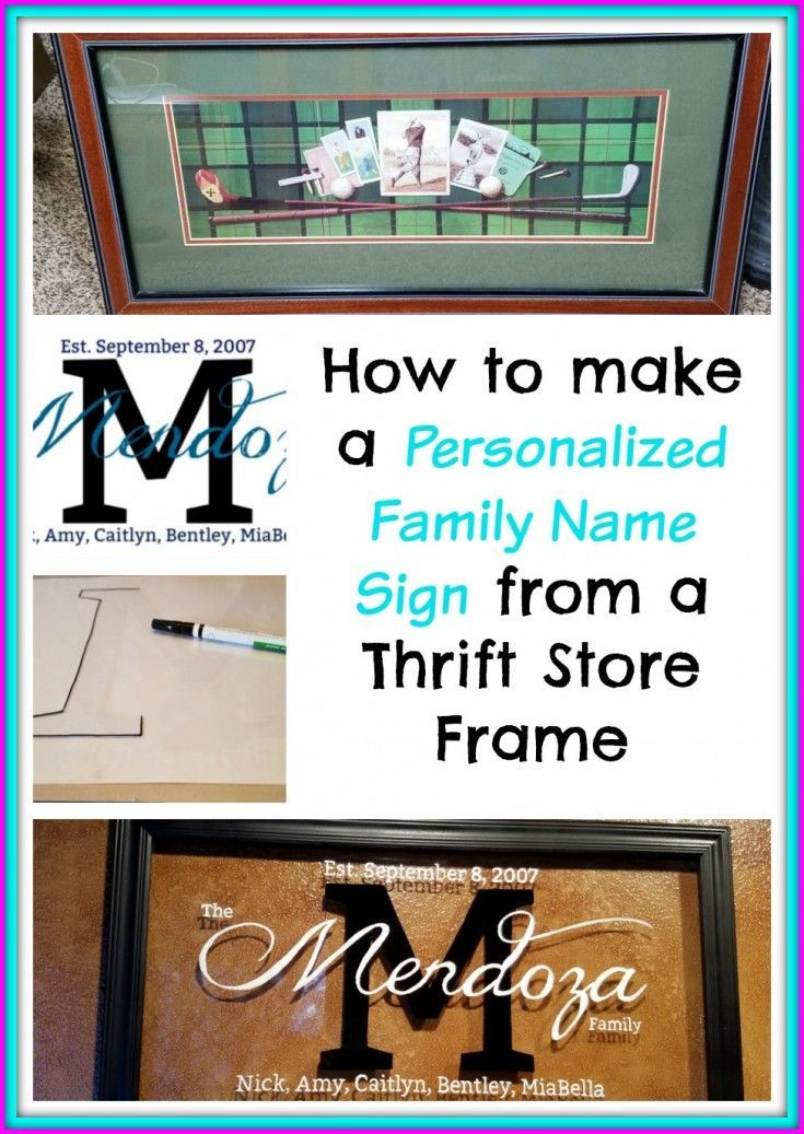Personalized Family Name Sign | Crafts | Pinterest | Repurposed ...