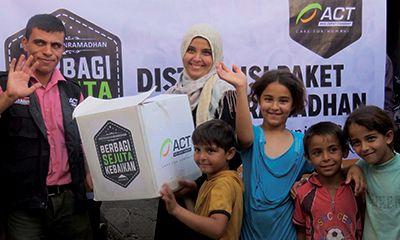 Senyum Ramadhan itu Terbingkai Apik di Gaza
