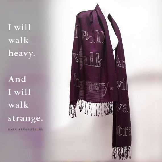 Only Revolutions Literary Scarf by YarnPlusInk