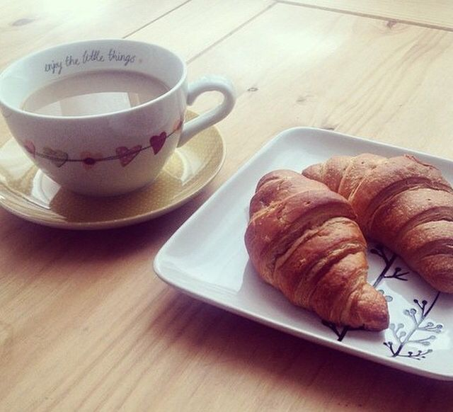 Homespun teacup & plate