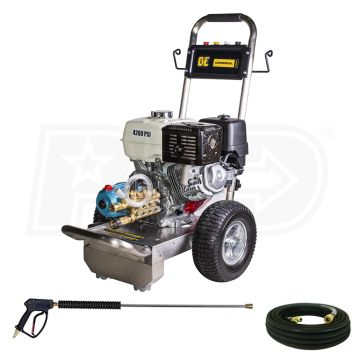 BE P4013HSJ B4213HSJ Professional 4200 PSI Gas-Cold Water Pressure Washer w/ CAT Pump & Honda GX390 Engine