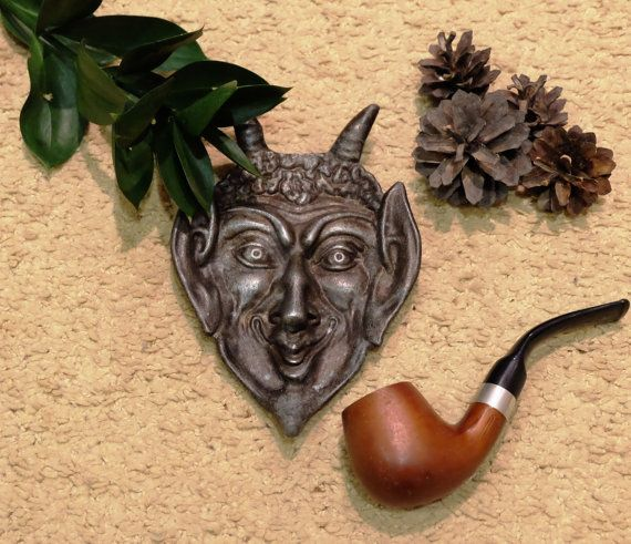 Devil Face Ashtray Vintage metal demon ashtray by MadeInTheUSSR
