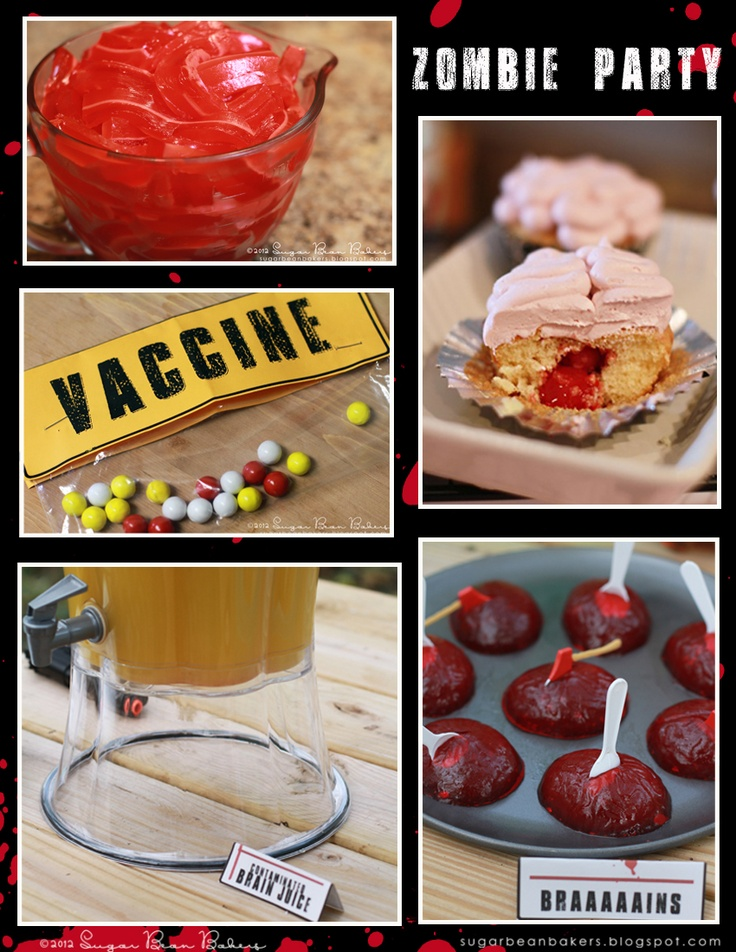 Sugar Bean Bakers: { How To Throw A Zombie Party }