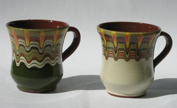 2 Bulgarian cup original ceramic /pottery/ cup by violetov, $5.99