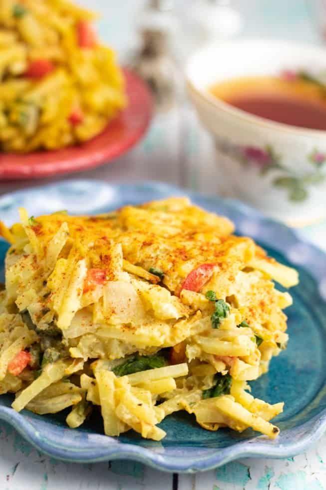 Vegan Hash Brown Casserole Recipe In 2020 Wfpb Recipes Hash Brown Casserole Breakfast Casserole