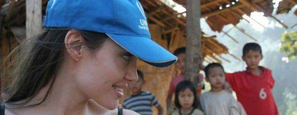 Angelina Jolie stands up for refugees on World Refugee Day