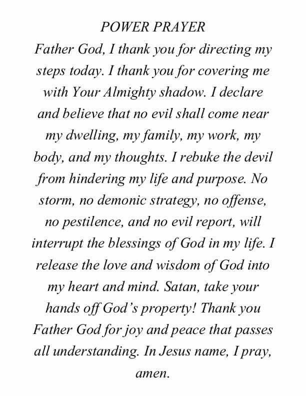 Excellent prayer for starting the day...
