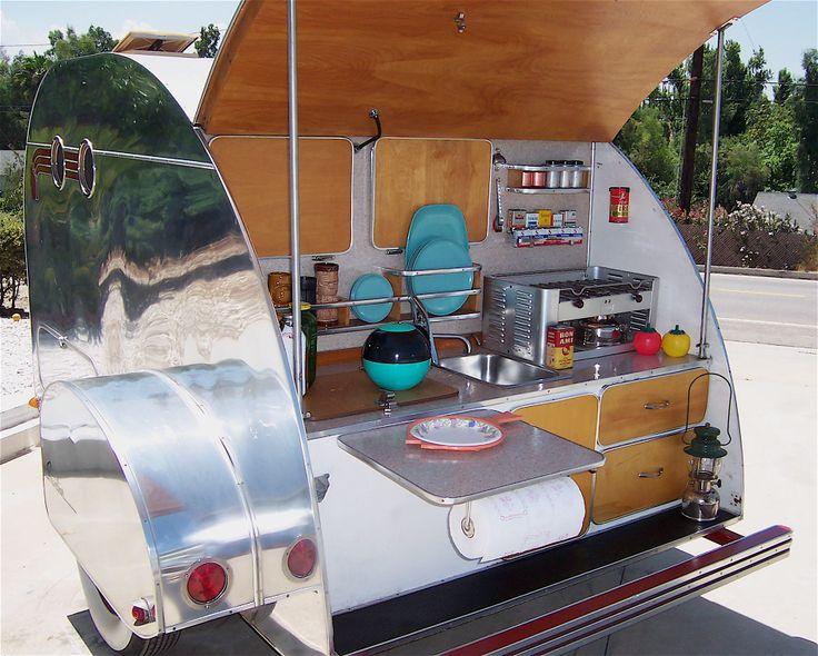 1000 images about teardrop on pinterest creative for Teardrop camper kitchen ideas