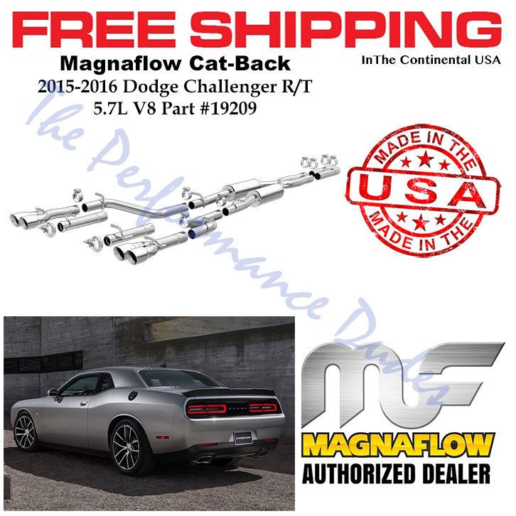 Same Business Day Shipping Magnaflow Comp Cat-Back Exahust w/Quad Tips Fits 2015-2016 Challenger RT 19209
