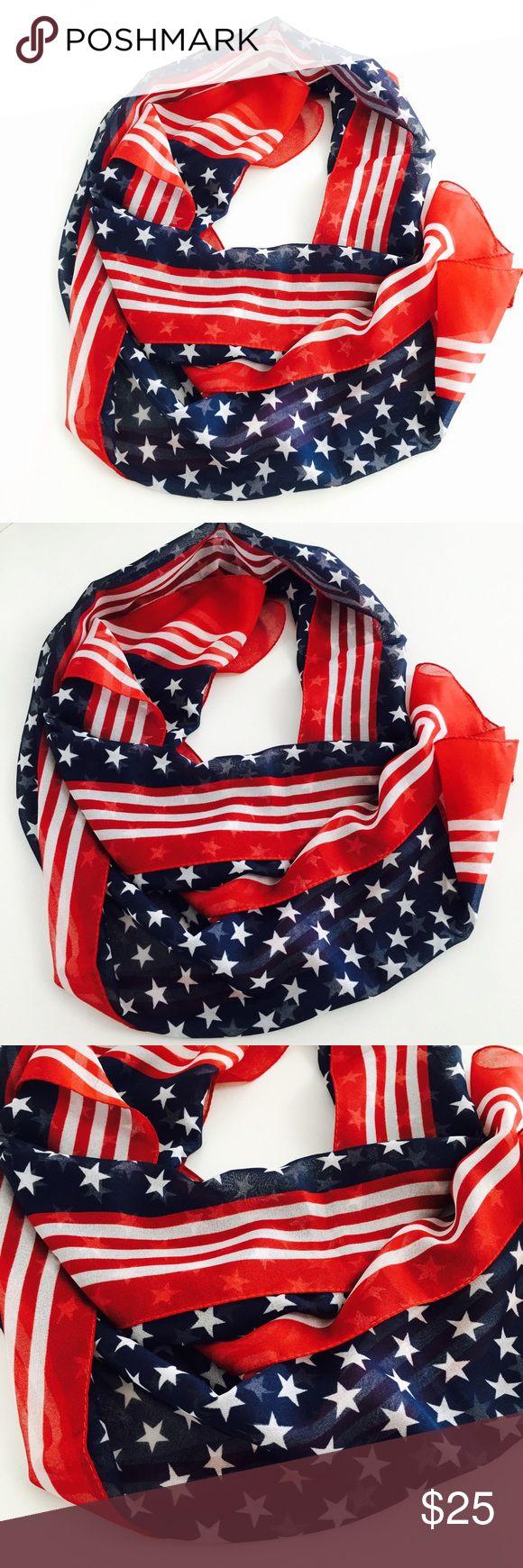 American Flag Scarf! American Flag Scarf! Accessories Scarves & Wraps