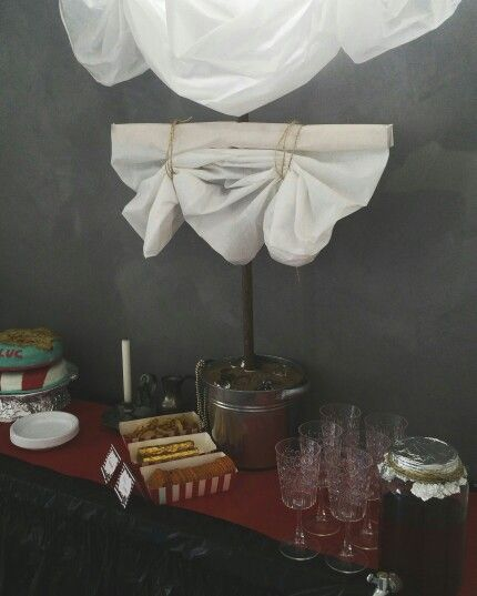 Pirate party table decoration
