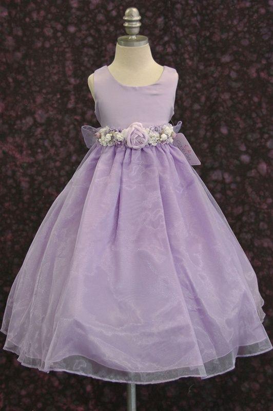 Lavender+Flower+Girl+Dresses | flower girl dress, flower girl lilac lavender dress, flower girl ...