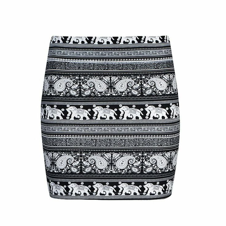 Jersey skirt featuring all over elephant print.