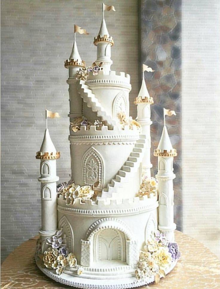 Торт замок мастер класс фото
