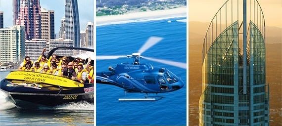 Book your ticket now online direct from our website.   Take in the views of the Gold Coast from it's highest vantage point at SkyPoint Observation Deck – plus a thrilling jetboating adventure are all included at the one low price with the Gold Coast Jetboat, Helicopter Flight and Sky Pass!