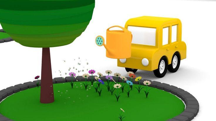 Le macchinine colorate e la pulizia del parco giochi | Cartoni animati p...