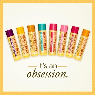 Burt's Bees lip balm, pomegranate and blueberry are my favs:)