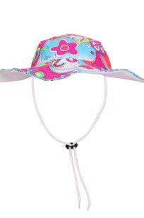 $29.95 Swim Hat •A fluoro colourful free flowing swirl and flower print •Adjustable neck tie •Reversible design •Generous fit •Nylon lycra with UPF 50+ www.heavenleecreations.com.au