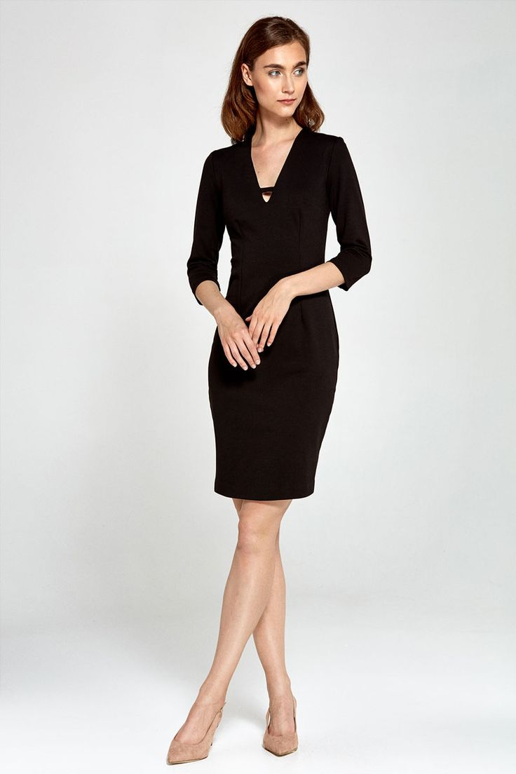 Robe noire cintree taille