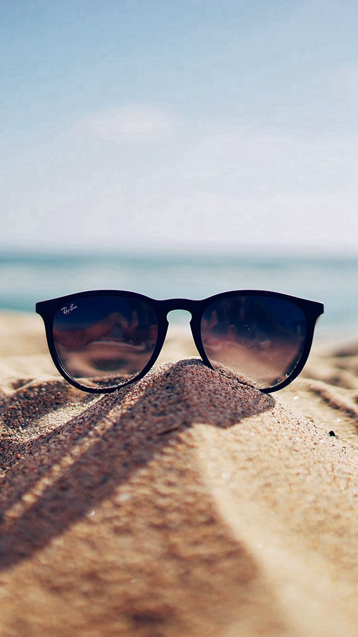 Nature Glass Sun Rayban Bokeh Vacation Sea Summer #iPhone #6 #plus #wallpaper