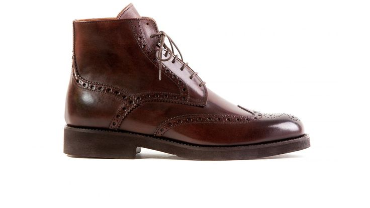 brogue boots brown