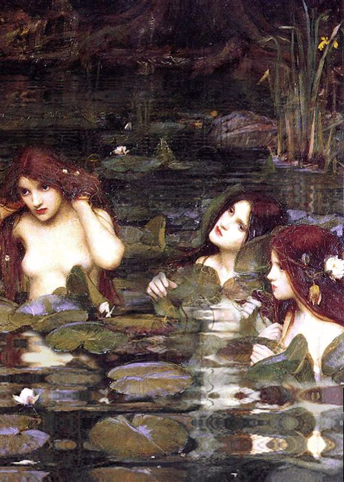 Hylas and the Nymphs, 1896 (detail) John William Waterhouse