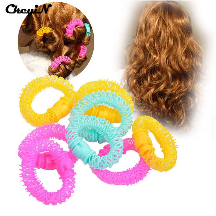 8Pcs/lot Magic Beauty Circles Hair Accessories Hair Styling Tools Plastic Curly Hair Roller HS29-P35