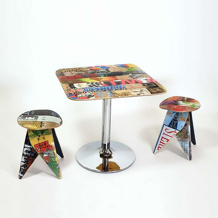 Unique skateboard furniture by deckstool – upcycleDZINE