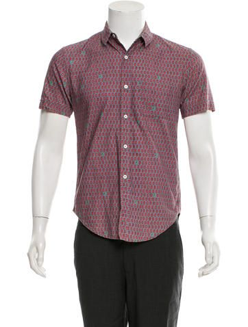 Band of Outsiders Short Sleeve Button-Up Shirt