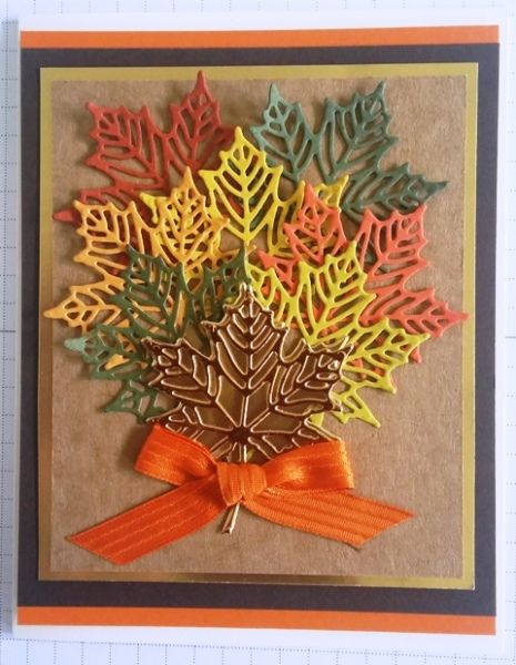 Seasonal Layers Autumn Leaf Card