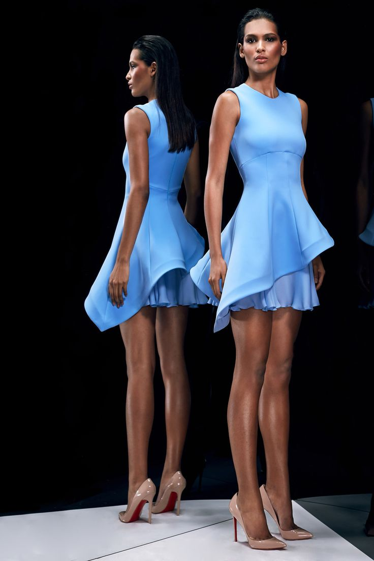 Cushnie et Ochs Pre-Fall 2014 Fashion Show.  I like the contrast between the two different layers of the skirt.