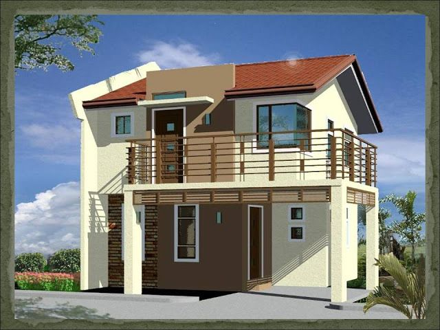 A two storey 2 bedroom home fitting in a 75 square meter for Small house design in kolkata