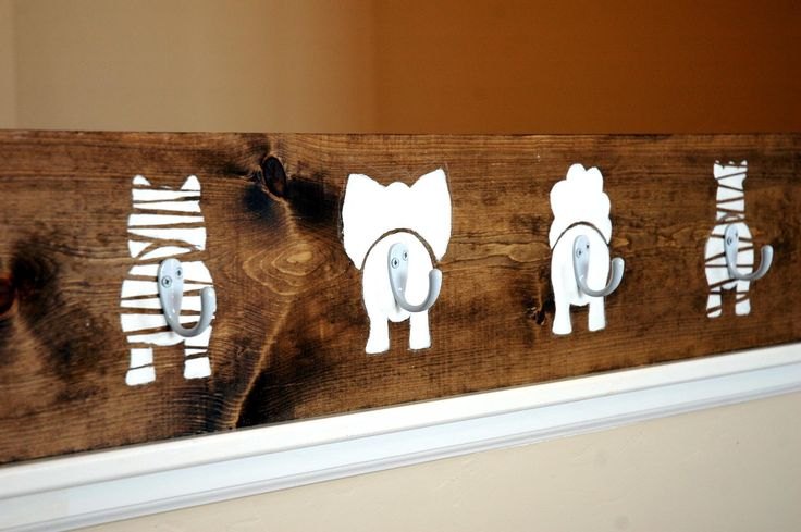DIY~  Animal Bums Coat Hook  {The Turquoise Piano}