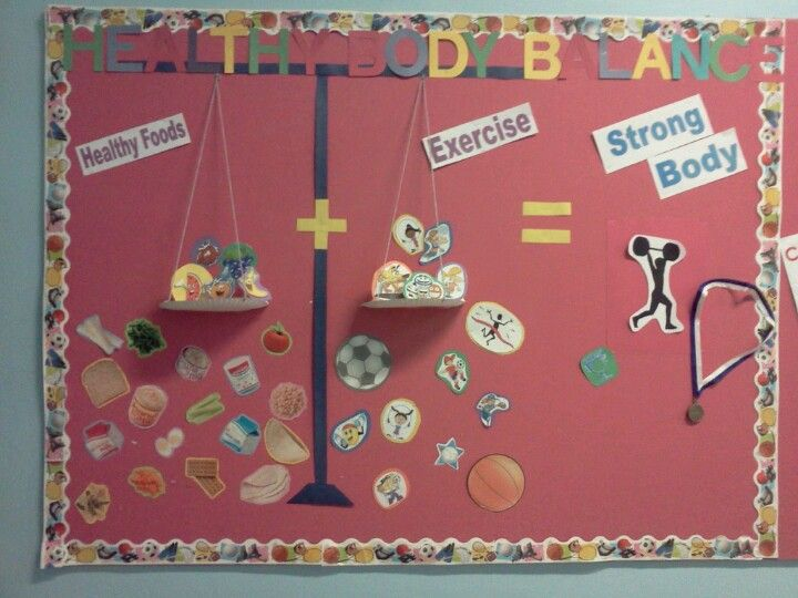 For Health and Physical Education: teachers this is a great way to show kids what eating healthy and being active equals.