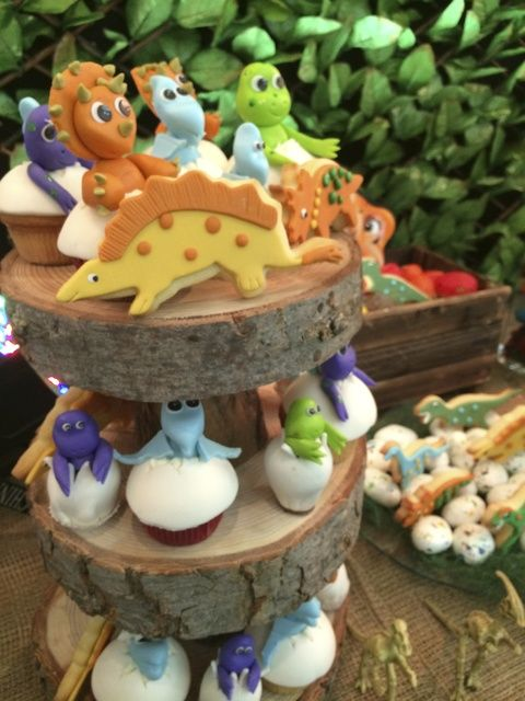 Amazing cupcakes at a Dinosaurs Birthday Party!  See more party ideas at CatchMyParty.com!  #boyparty