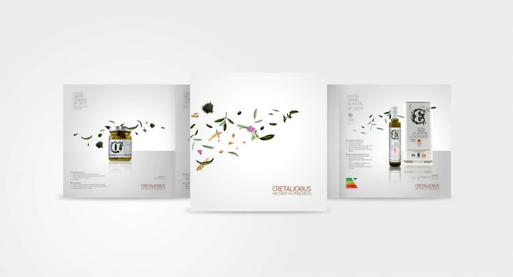 BROCHURE for Cretalicious! #olive_oil #honey #redesign #package #leftgraphic #letter_design #cretalicious #brochure #TASTE CRETE
