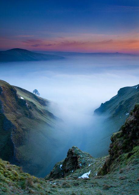and-the-distance: February Sunrise, Winnats Pass, Peak District, Derbyshire
