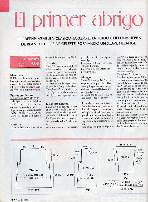 SOLO ROPITA DE BEBE EN PUNTO, GANCHILLO Y TELA (pág. 1209) | Aprender manualidades es facilisimo.com