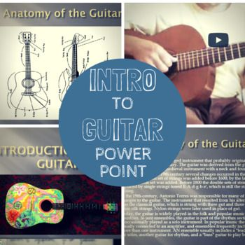 This is an 'introduction to the guitar' power point presentation. I use this power point presentation when my students are getting ready to begin their guitar unit in 5th grade (although I use this for my 5th graders, the material is useful for any beginning guitar